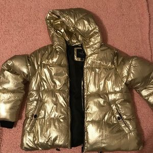 American Eagle Gold Metallic Puffer Jacket